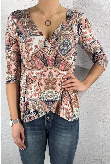 19112 Top imbricaled Pink paisley