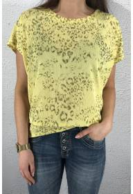 43114 T-shirt leoprint Lemon