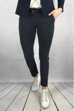 1461 Byxa w.belt dots Navy