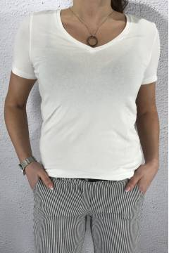 Rhea QR T-shirt v-basic White