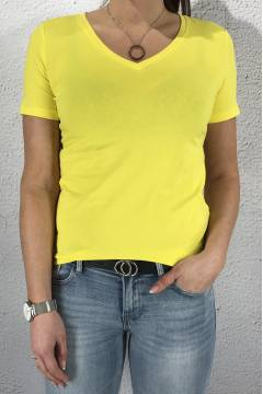 Rhea QR T-shirt v-basic Sunshine Yellow