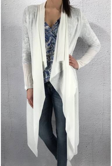NL 4405 Knitted cardigan White