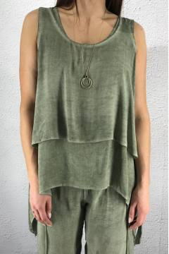 8236 Tank Top twice Khaki