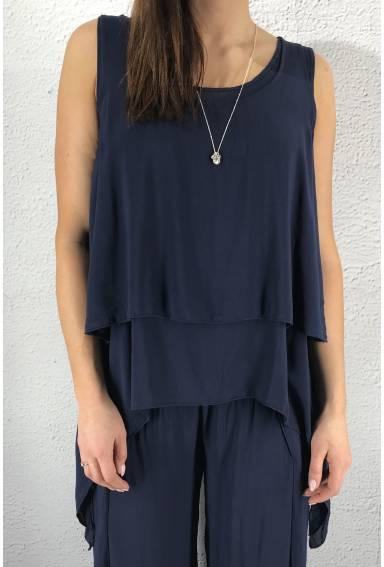 8236 Tank Top twice Navy