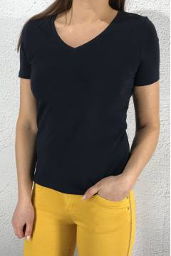 Rhea QR T-shirt v-basic Deep Blue