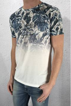 Inpanema Tee Natural Blue print