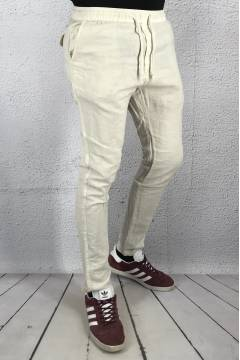 Trousers Slim Truc Oyster Gre