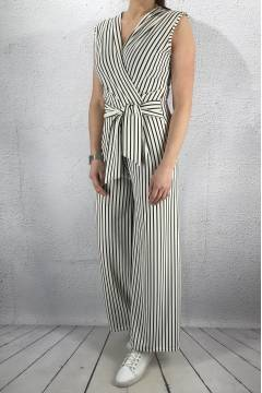 6015 Jumpsuit White/Navy
