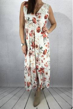 8526 Maxidress White/Flower