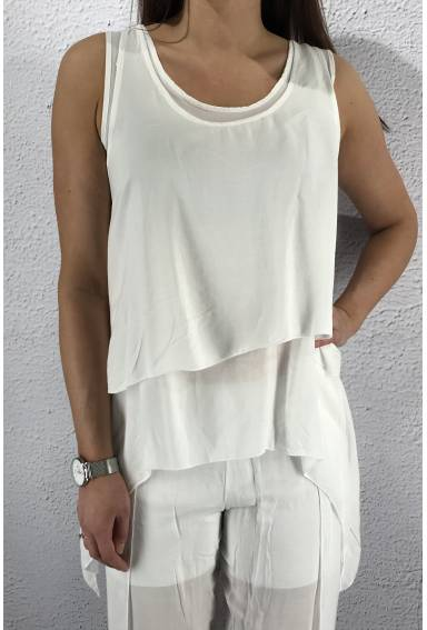 8236 Tank Top twice White