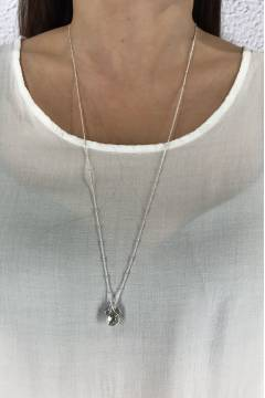 W542 Necklace Silver pearl