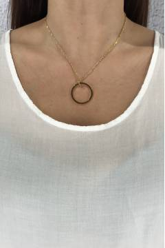 W4306 Necklace Gold Ring