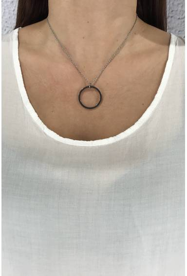 W4306 Necklace Steel Ring