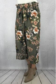 Pants culotte Khaki/Flower