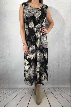 Dress flowerprint Black/Grey