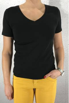 Rhea QR T-shirt v-basic Black