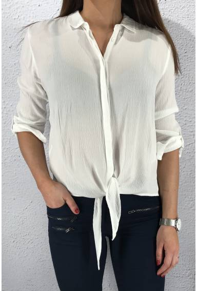 White Blouse crinkled