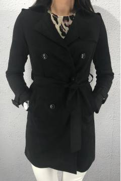 65119 Trenchcoat Black