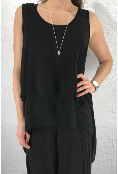 8236 Tank Top twice Black