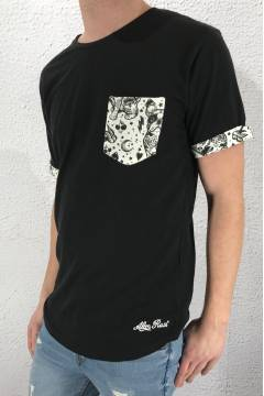 Tee printed pocket 191020  Black