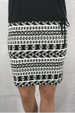Skirt jersey pencil Black/White