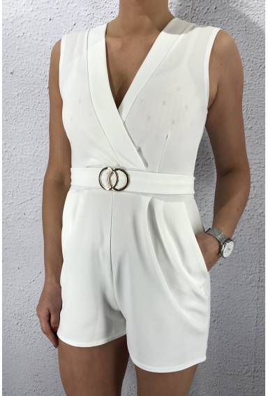 Gram playsuit White/Gold