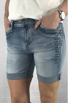 8017 Jeansshorts Bling Denim