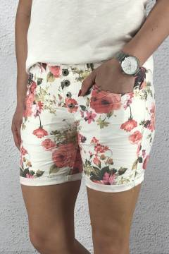 1239-F 103 Shorts White/Flower