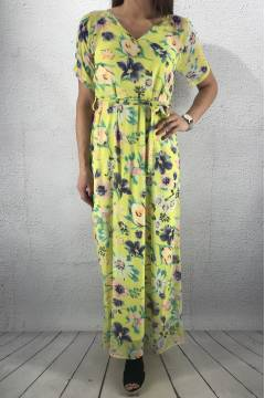 Narva Dress long Sun/Flower