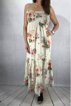 Doris Dress Creme Flower