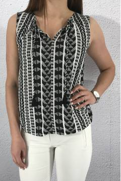 Top tassels Black/White