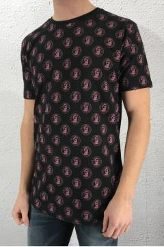 Tee Face Black/Pink
