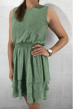 Nicoline Dress L.Green/Creme
