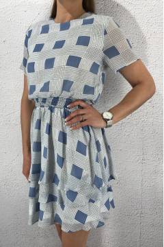 Nicoline Dress L.Blue/Creme