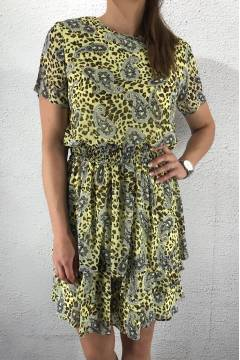 Nicoline Dress L.Yellow/Leo/Paisley