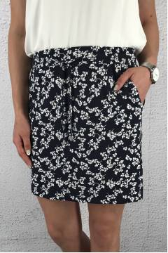 Happy Skirt printed Deep Blue/White