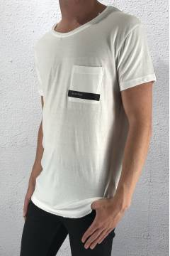1014 Tee log pocket White