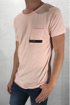 1014 Tee log pocket Pink