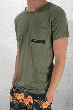 1014 Tee log pocket Green