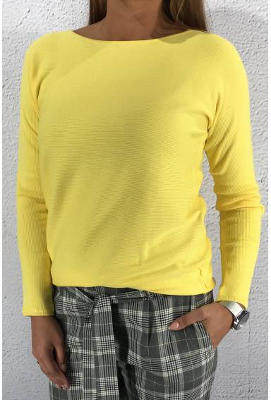 Blanka Ldt QR sweater Lemon