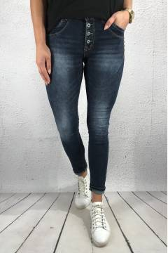 JW 1064 Jeans bling buttonfly Dark denim