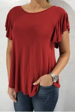 19323 T-shirt volang Bordo