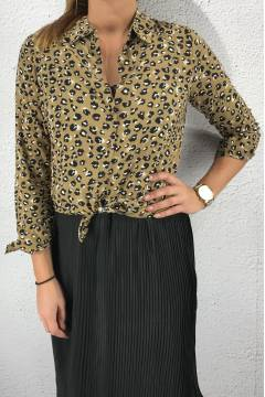 Blouse Leoprint Camel