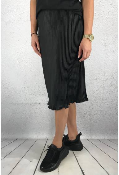Skirt pleated Black