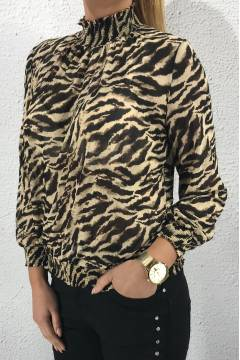 JW603 Blouse zebra Brown