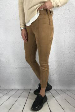 Pant velour skinny Gentle Brown