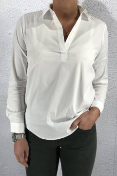 Business longblouse White