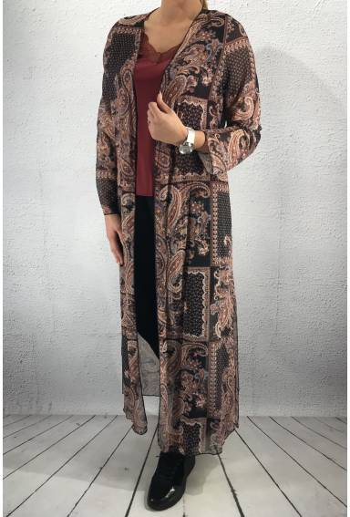 3408 Kaftan Black multi