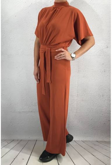 Girl Jumpsuit Rust