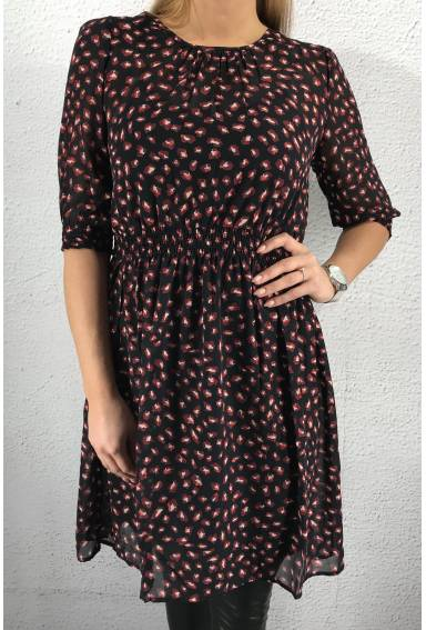 Dress Multiprint navy/wine